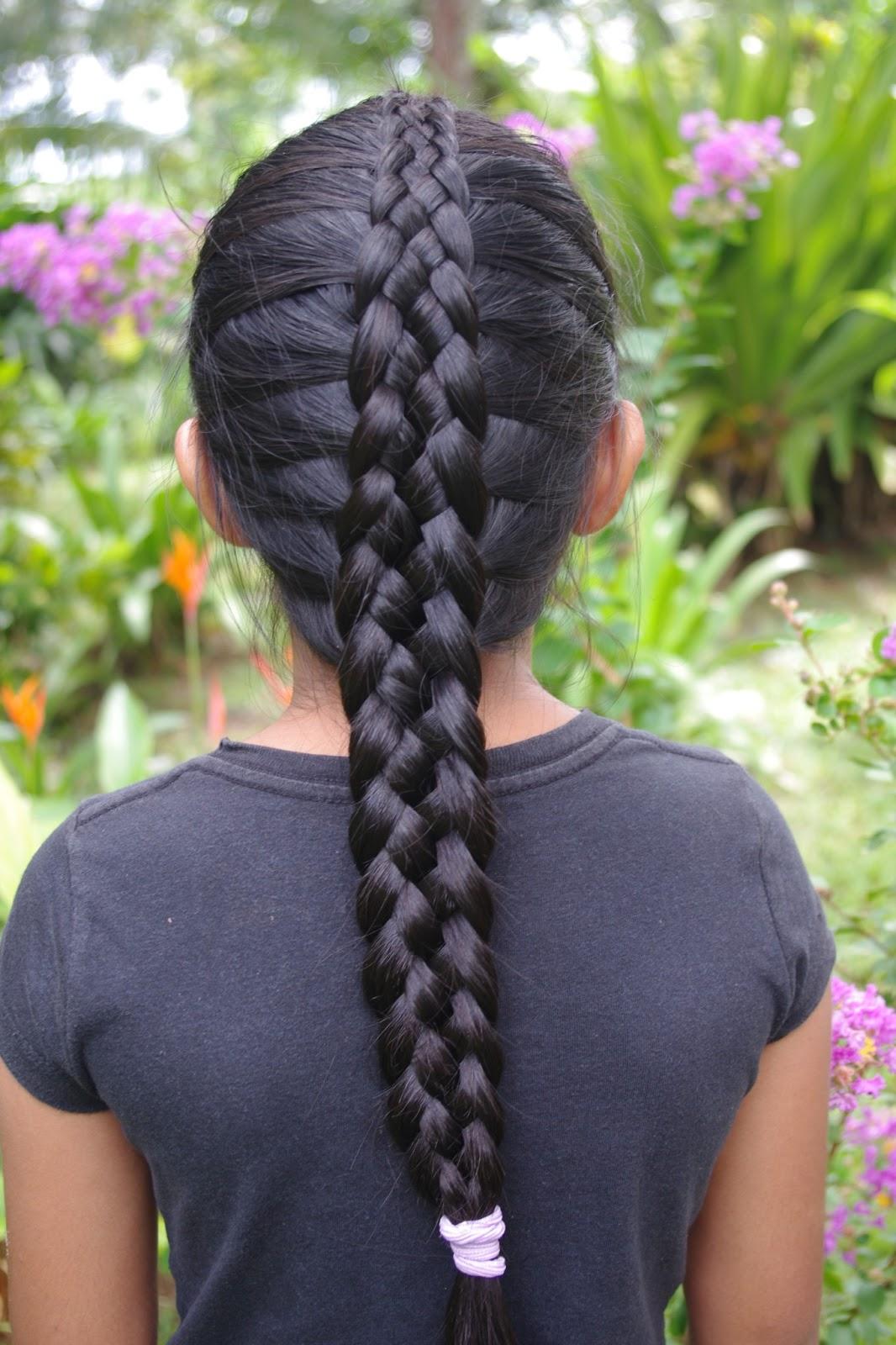 Braids  Hairstyles for Super Long Hair Micronesian Girl 6Strand French Braid