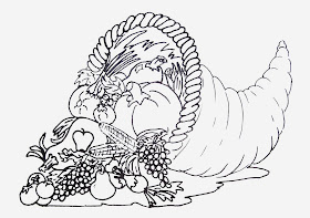 Free Printable Coloring Page of Cornucopia to download