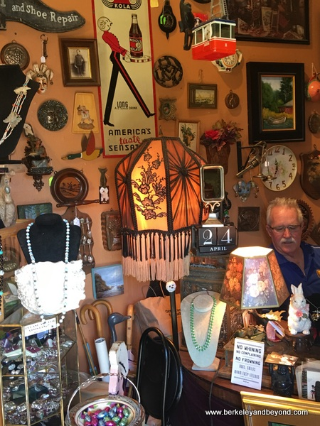 interior of Jim and Willie's Antiques and Collectibles in Duncans Mills, California