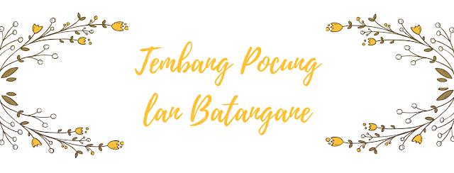 Tembang Pocung lan Batangane
