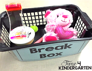Break Box for kindergarten sensory items from Amazon