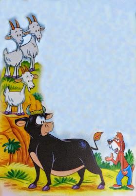 el toro y las cabras amigas fabula