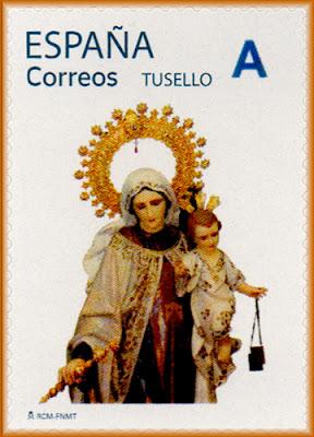sello, tu sello, Virgen del Carmen, Salinas, filatelia