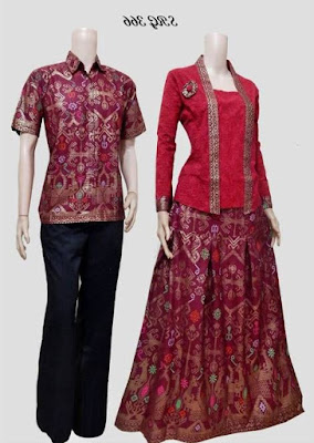 Model baju batik muslim couple terbaru
