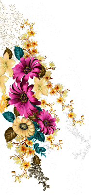 Digital print flower design 676