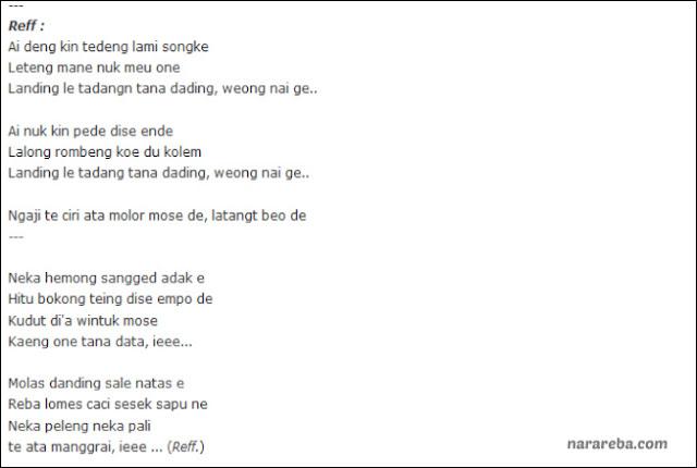 """Lirik Lagu """"Ite Manggarai"""" Versi narareba.com"""
