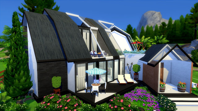 The Sims 4 'Secluded for 7 Sims+1' by eevam