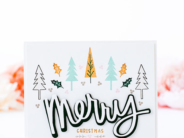 Merry Trees CAS Card - The Stamp Market