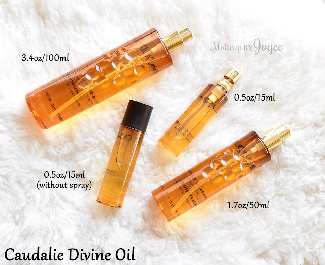 Caudalie Divine Oil Review Spray Size .5 3.4 oz 1.7 ounces