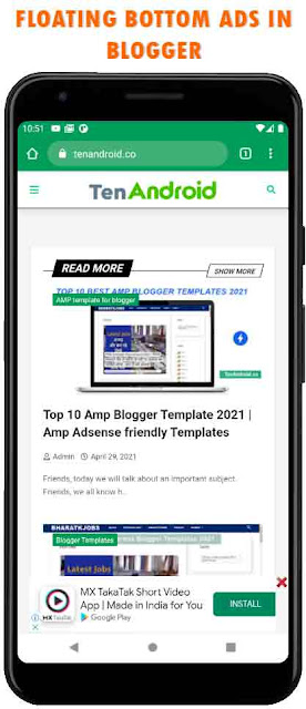 Responsive Bottom Sticky Ads in Blogger Preview