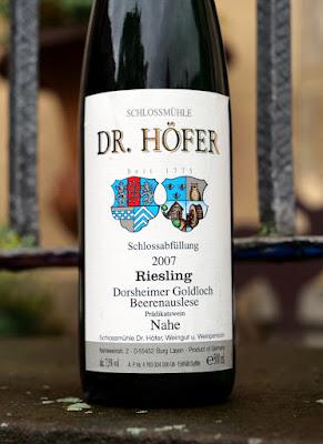 Beerenauslese von Dr. Höfer.