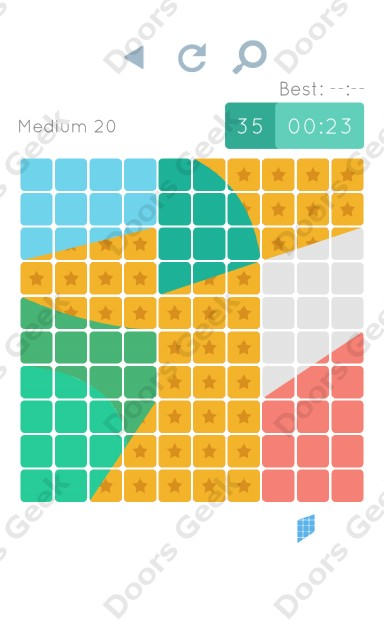 Cheats, Walkthrough for Blocks and Shapes Medium Level 20