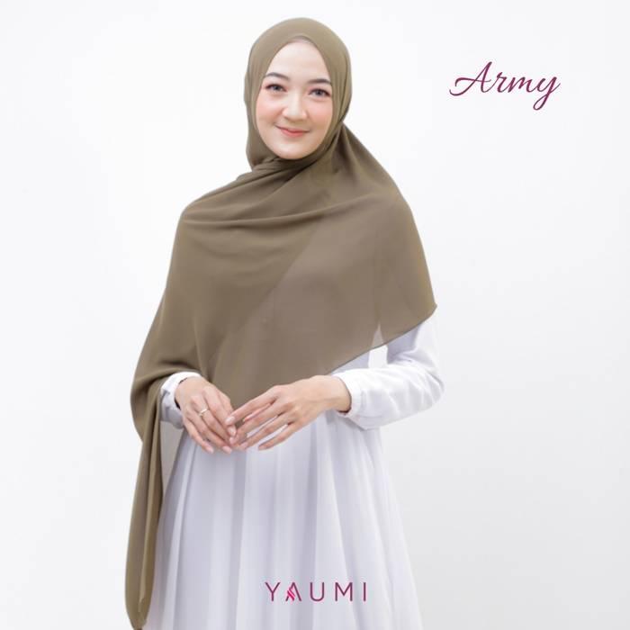 Yaumi Hijab Pashmina Army
