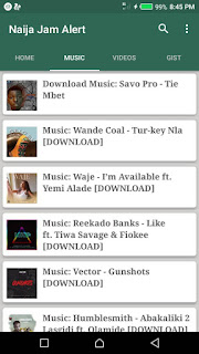 New Music on Naija Jam Alert app