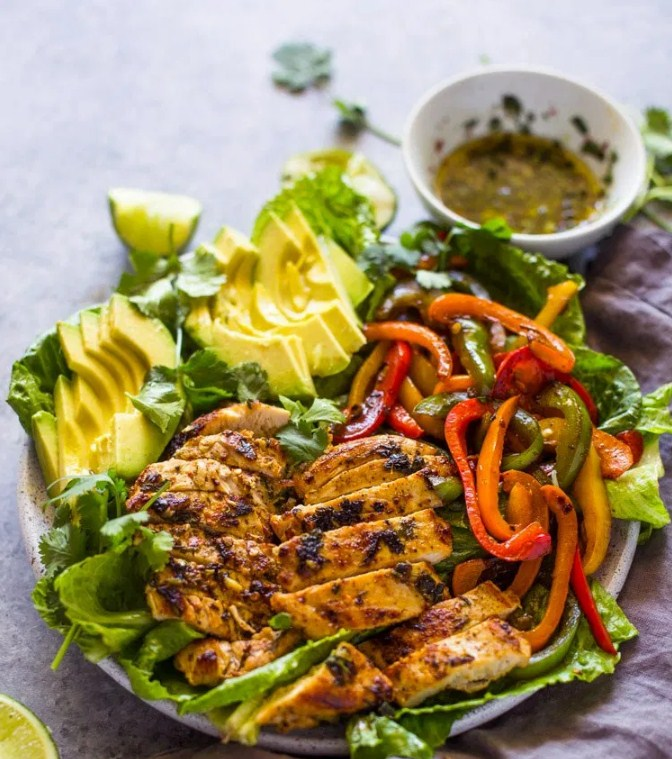 Grilled Chicken Fajita & Avocado Salad