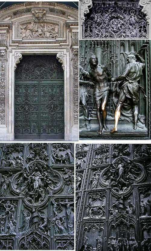 Amiciinallegria Porta principale del Duomo di Milano