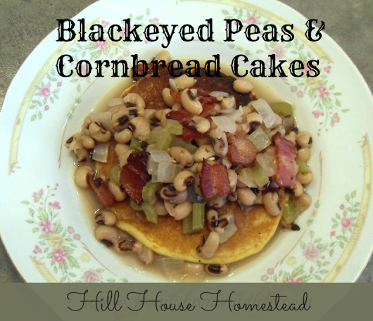 * Black Eyed Peas and Cornbread Cakes