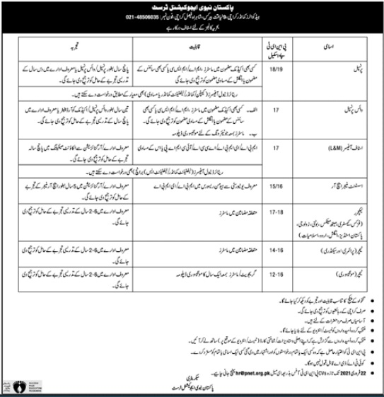 Pakistan Navy Education Trust Latest Advertisement Jobs 2021