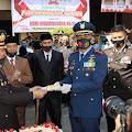 Danlanud Sulaeman Kolonel Pnb Mohammad Nurdin Hadiri HUT Bhayangkara Ke-74 di Mapolresta Bandung