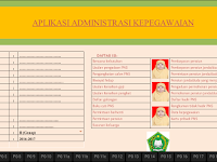 Administrasi Kepegawaian Guru Sekolah Format Excel Terbaru - Galeri Guru