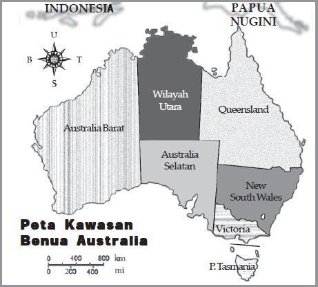 Peta: Benua Australia dan Pembagian Wilayahnya