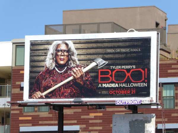 Boo A Madea Halloween movie billboard