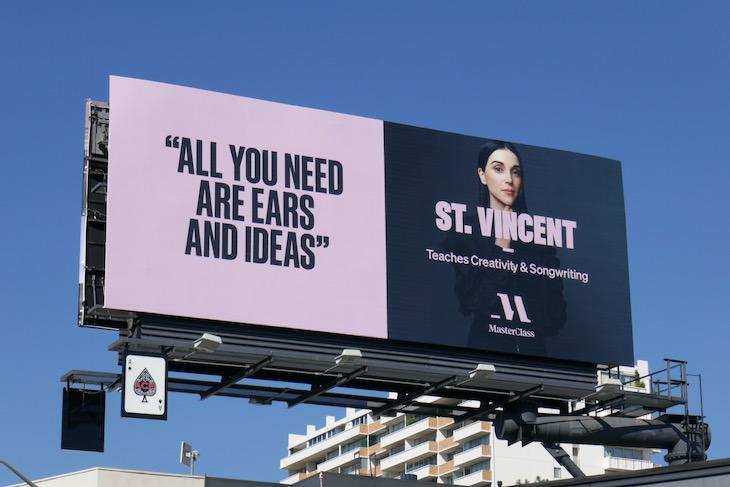 St Vincent MasterClass billboard