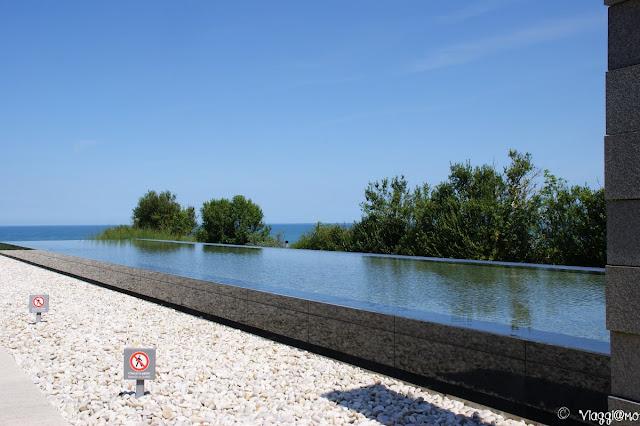 Ingresso al cimitero americano di Normandia