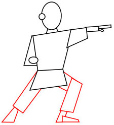 Langkah 3. Super Simpel Menggambar Karateka