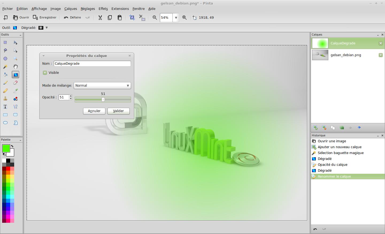 pinta un editor grafico para linux