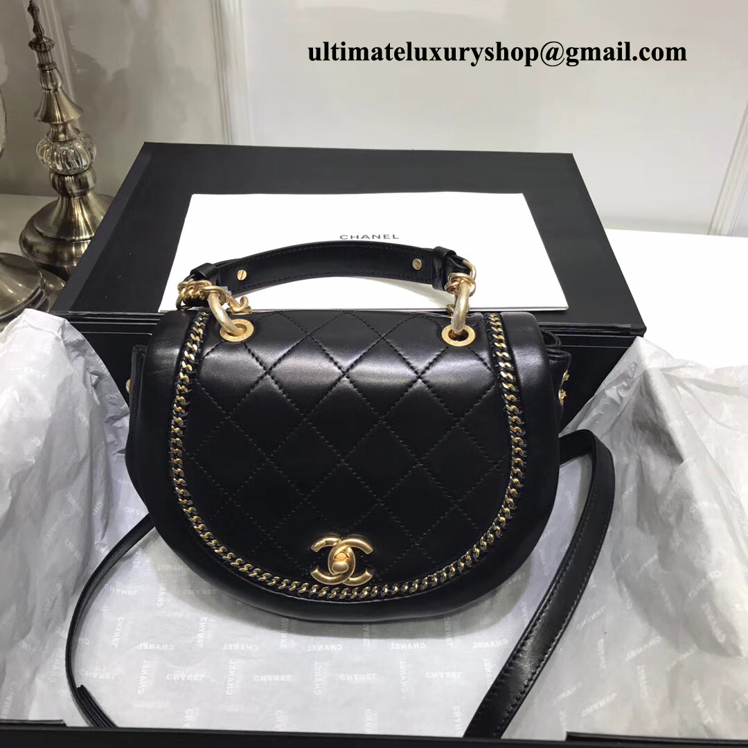 831b4642021541 Authentic Quality Perfect 1:1 Mirror Replica Chanel Flap Bag Black ...