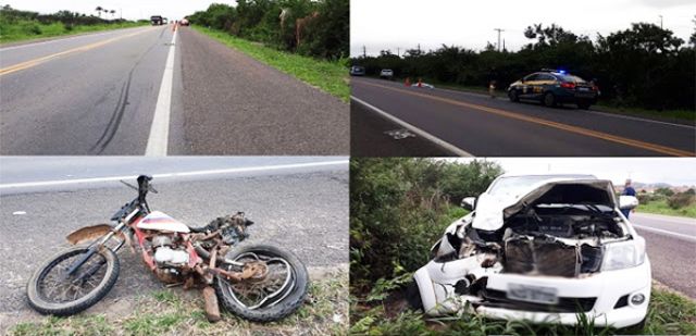 Casal e filho de 5 anos em moto morrem após serem atingidos por caminhonete na BR-407