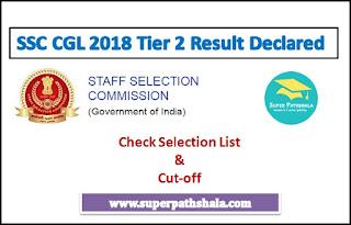 SSC CGL 2018 Tier 2 Result Declared