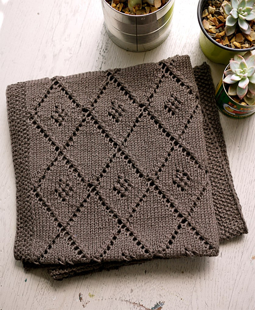 Chocolate Parfait Baby Blanket Free Knitting Pattern