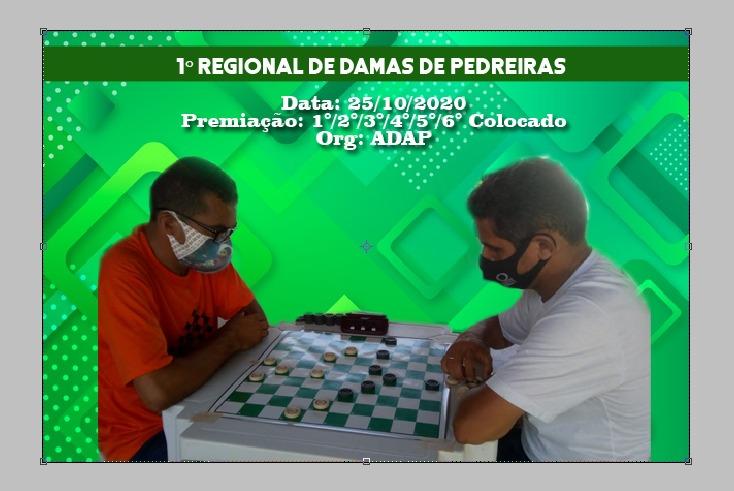 Alto São José em Pedreiras vai sediar o primeiro Campeonato Regional de Damas.