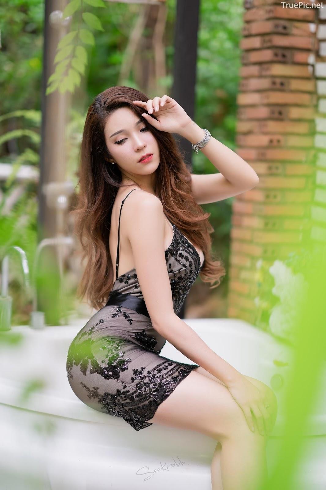 Thailand hot model - Janet Kanokwan Saesim - Black sexy garden - TruePic.net - Picture 6
