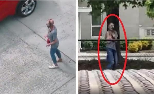 """La dura realidad detrás del  video de una mujer con aspecto """"zombie"""" en las calles"""