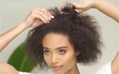 Work in sections and clip your hair