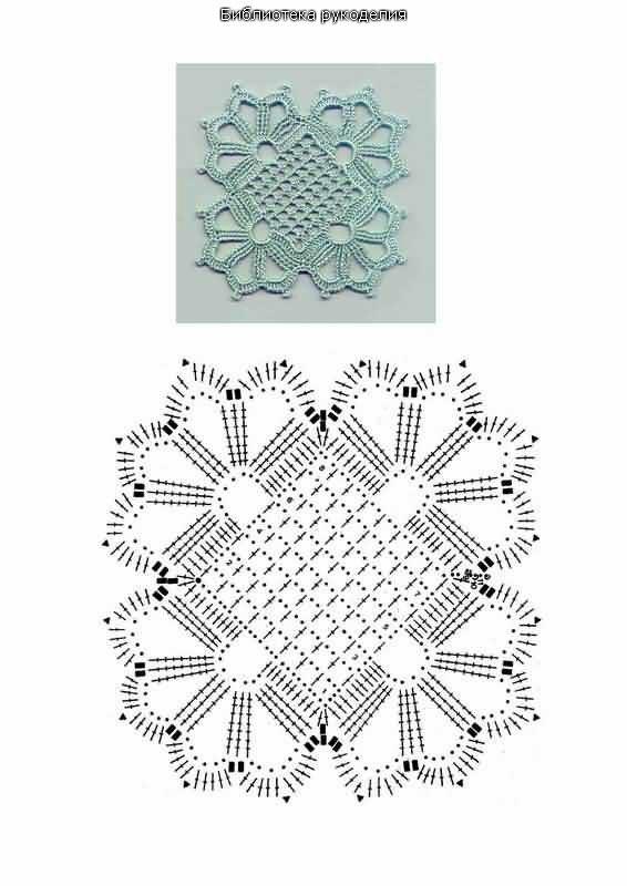 kwadraciki szydelkowe wzory