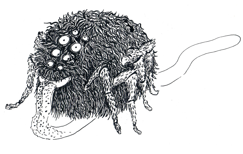 monstre monster illustration jeunesse encre ink children