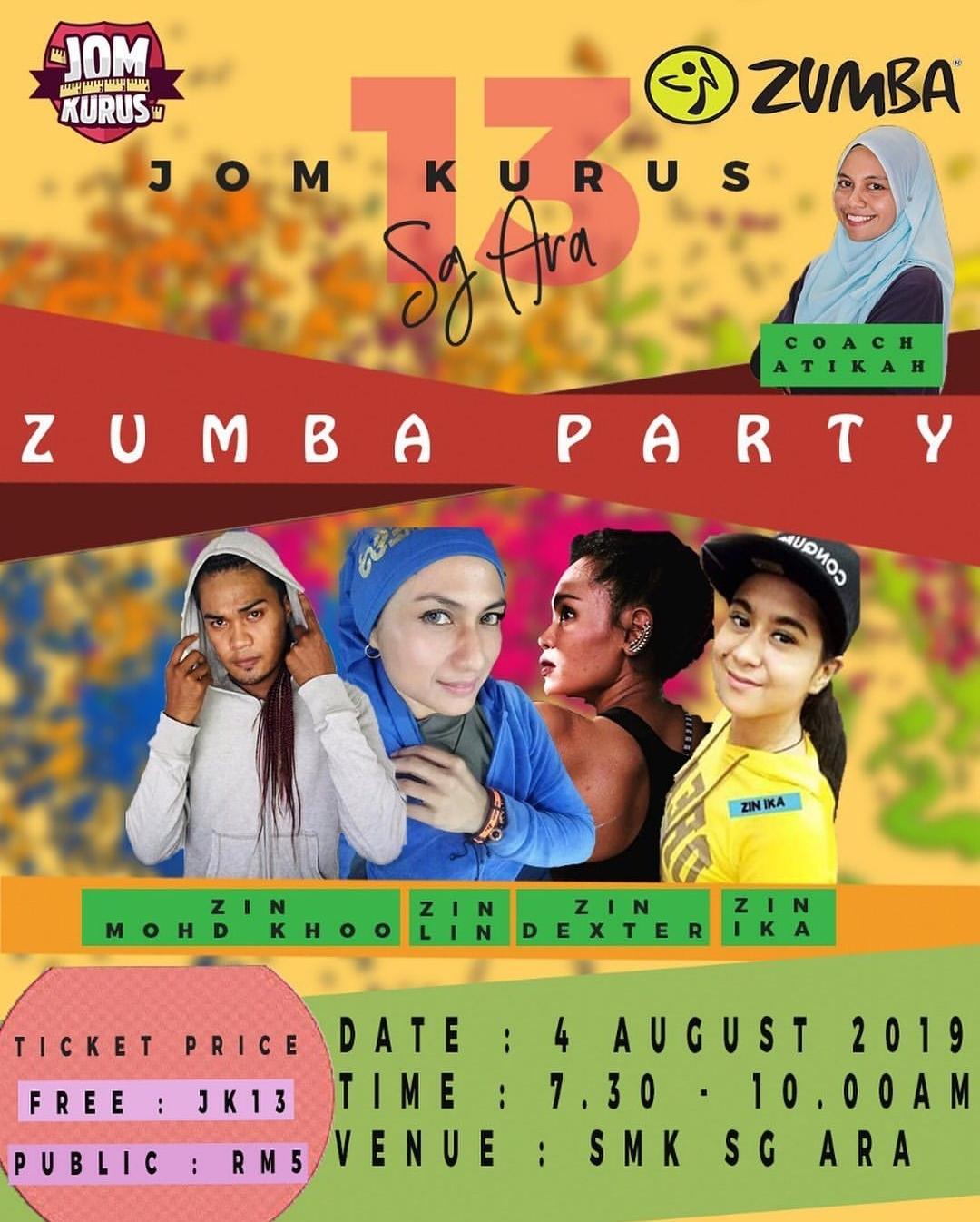 Zumba Party bersama Jom Kurus
