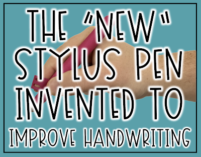 """The """"New"""" Stylus Pen Invented to Improve Handwriting. These styluses are GREAT for elementary kids!"""