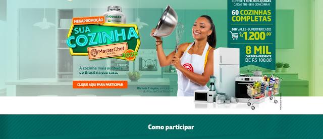Promoção Liquigás 2020 Sua Cozinha Masterchef - Nova Edição Megapromoção Muitos Prêmios