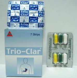 سعر ودواعي استعمال كبسولات تريو كلار Trio-clar للجرثومة