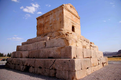 Stone made tomb of Cyrus. Pasargadae, Iran