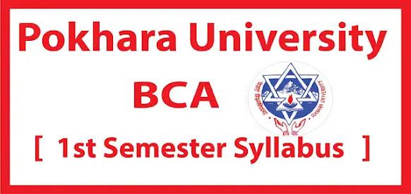 Pokhara University First Semester Syllabus