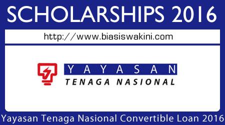 Tenaga Nasional Berhad Convertible Loan 2016-Pinjaman Yayasan TNB