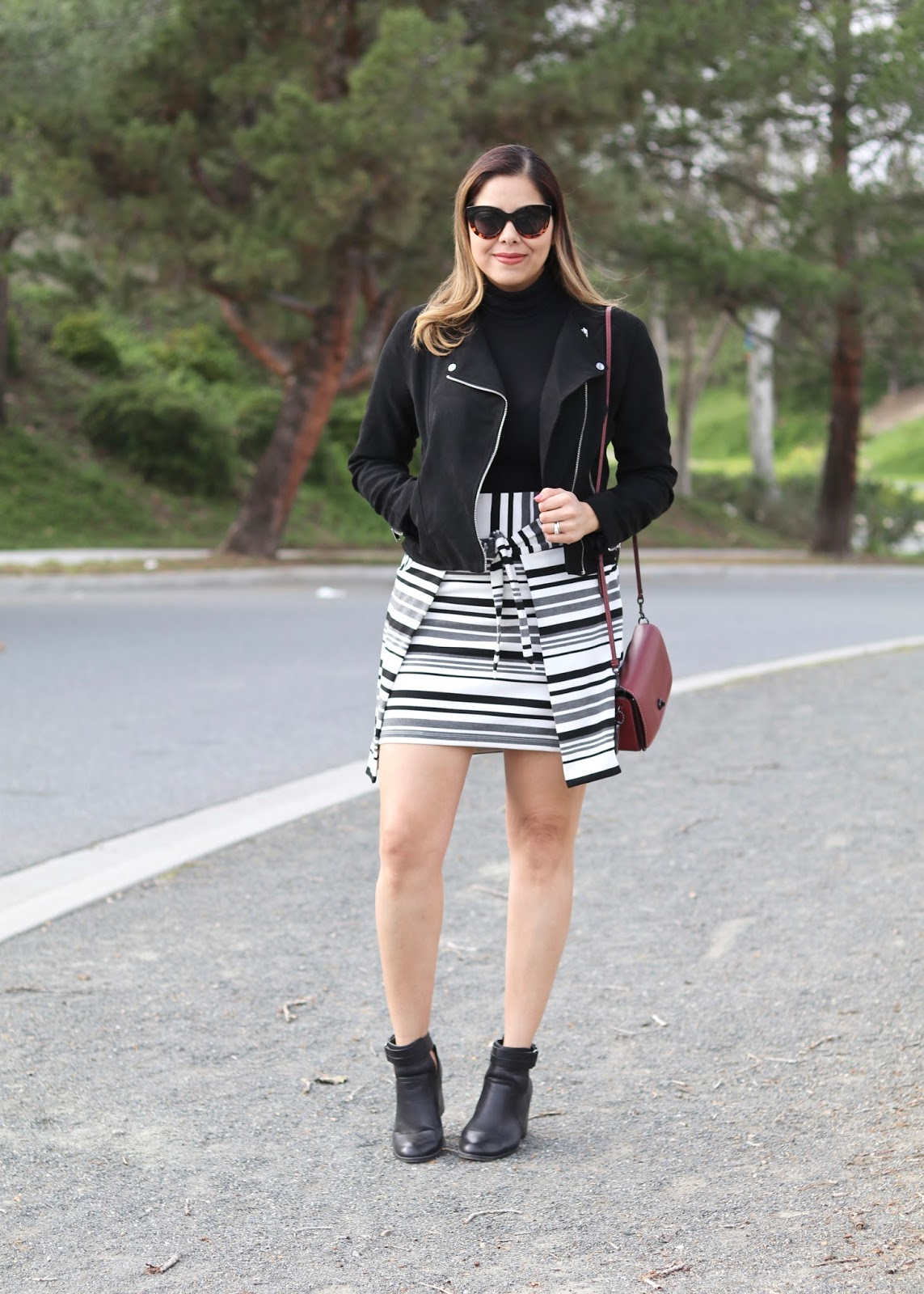 San Diego street style, what to wear in San Diego, cabi grandstand skirt