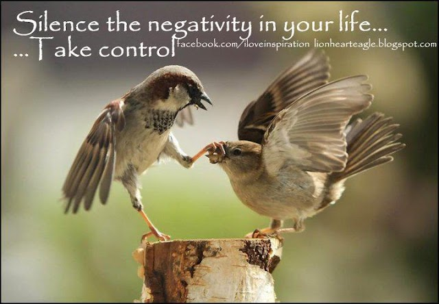 Take control silence the negativity