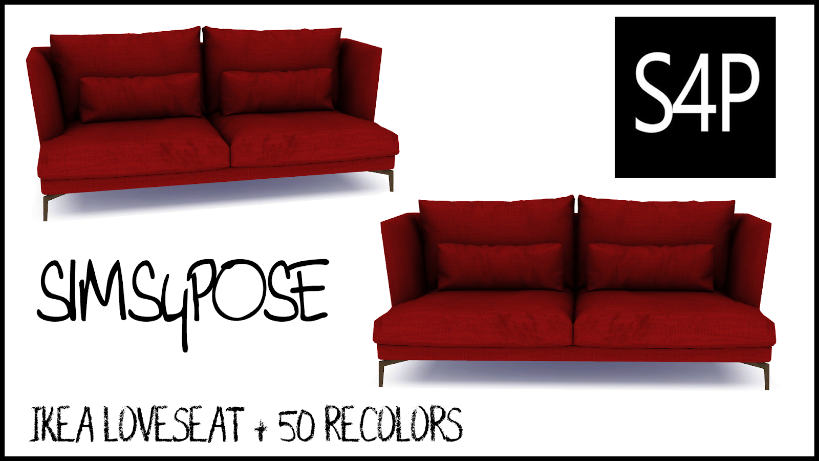 Ikea Loveseat Download Sims 4 Pose Ikea Loveseat Seating Mesh Sims 4 Pose Cc